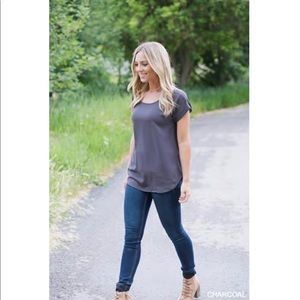 ⭐️Gray float blouse women's L